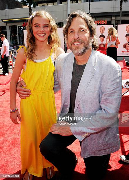 """Actress Avalon Robbins and director Peter Farrelly arrive at the premiere of Twentieth Century Fox's """"The Three Stooges"""" at the Graumans Chinese..."""