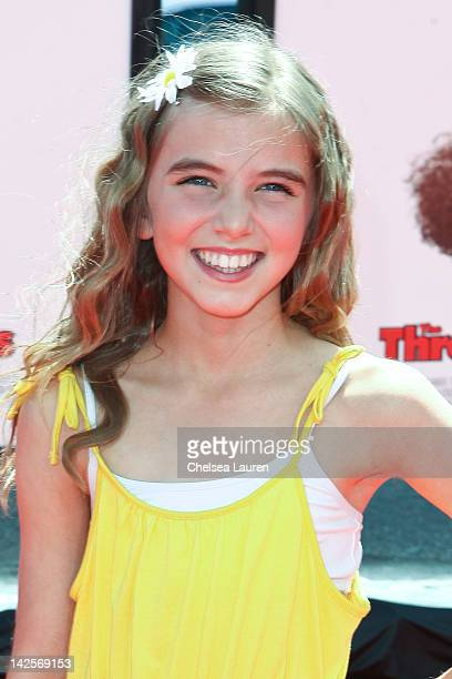 """Actress Avalon Robbins arrives at """"The Three Stooges"""" premiere at Grauman's Chinese Theatre on April 7, 2012 in Hollywood, California."""