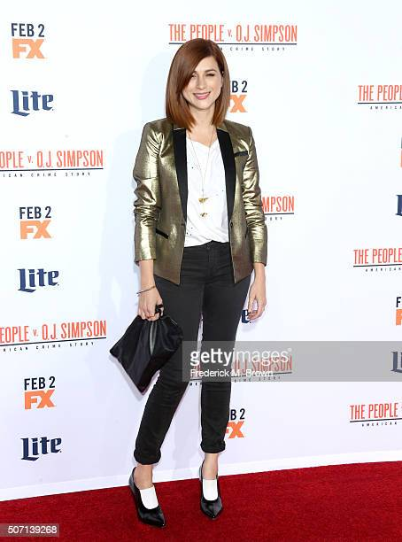 Actress Aya Cash attends the premiere of FX's American Crime Story The People V OJ Simpson at Westwood Village Theatre on January 27 2016 in Westwood...