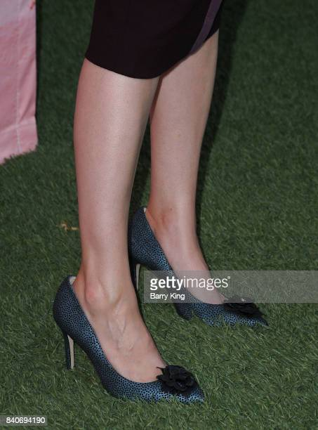 Actress Aya Cash shoe detail attends the premiere of FXX's 'You're The Worst' Season 4 at Museum of Ice Cream LA on August 29 2017 in Los Angeles...