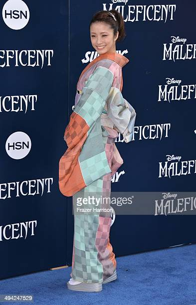 Actress Aya Ueto arrives at the World Premiere Of Disney's 'Maleficent' at the El Capitan Theatre on May 28 2014 in Hollywood California