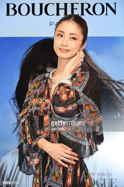 Actress Aya Ueto attends the Boucheron Serpent Boheme Collection Launch at Isetan Shinjuku Main Store on June 21, 2017 in Tokyo, Japan.