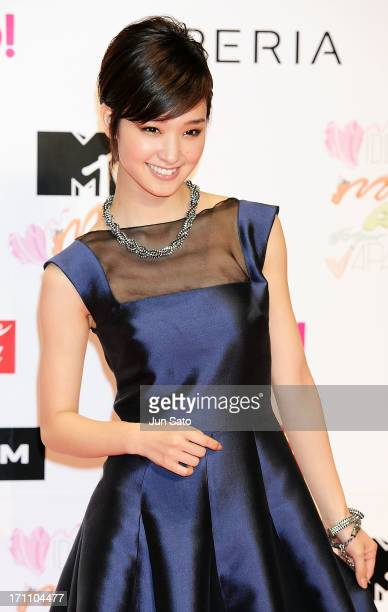 Actress Ayame Goriki attends the MTV Video Music Awards Japan 2013 at Makuhari Messe on June 22 2013 in Chiba Japan