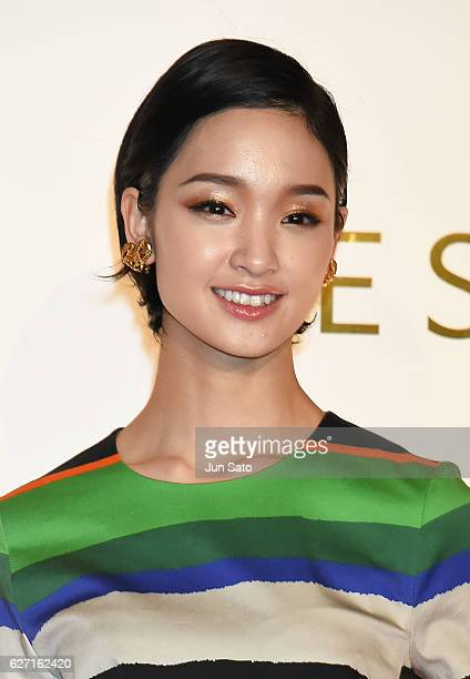 Actress Ayame Gouriki attends the photo call during the Escada 2017 S/S Runway at the Grand Hyatt Hotel on December 2 2016 in Tokyo Japan
