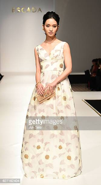 Actress Ayame Gouriki walks the Escada 2017 S/S Runway at the Grand Hyatt Hotel on December 2 2016 in Tokyo Japan