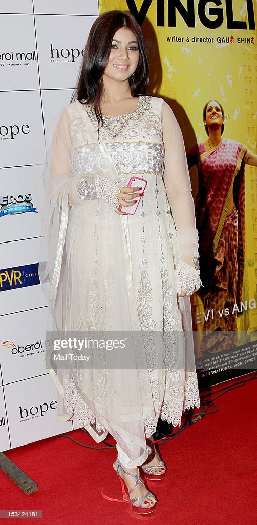 Actress Ayesha Takia during the premiere of the movie `English Vinglish` held at PVR Cinema in Mumbai on October 4 2012
