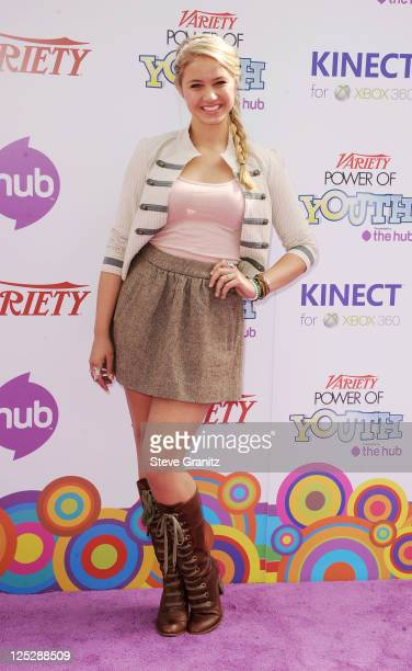 Actress Ayla Kell arrives at Variety's 4th Annual Power of Youth event at Paramount Studios on October 24, 2010 in Hollywood, California.