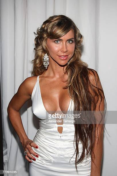 Actress Aylin Mujica poses during the FAMA awards on October 17 2007 in Miami Beach Florida