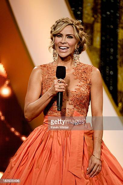 Actress Aylin Mujica speaks onstage at the Billboard Mexican Music Awards at the Dolby Theatre on October 9, 2013 in Los Angeles, California.