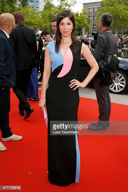 Actress Aylin Tezel arrives for the German Film Award 2015 Lola at Messe Berlin on June 19 2015 in Berlin Germany