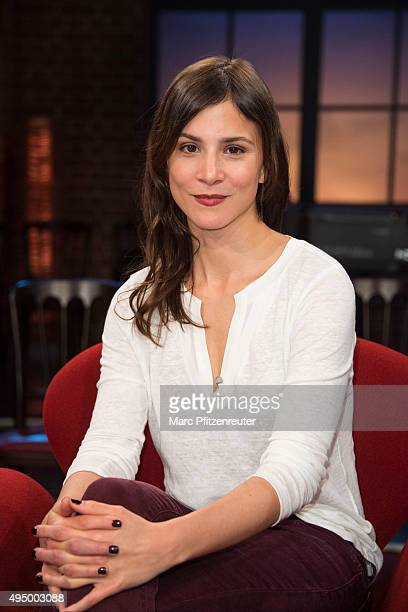 Actress Aylin Tezel attends the 'Koelner Treff' TV Show at the WDR Studio on October 30 2015 in Cologne Germany