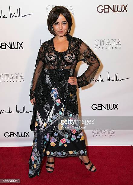 Actress Aymara Limma attends the Genlux Magazine issue release party with cover girl Taryn Manning at Bootsy Bellows on September 27 2014 in West...
