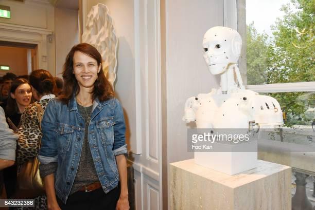 Actress Aymeline Valade attends The Art De La Matiere AD Interieurs 2017 Preview at Hotel de La Monnaie on September 5 2017 in Paris France