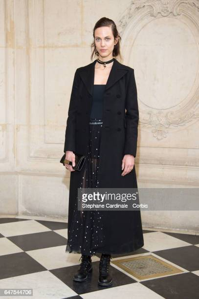 Actress Aymeline Valade attends the Christian Dior show as part of the Paris Fashion Week Womenswear Fall/Winter 2017/2018 on March 3 2017 in Paris...