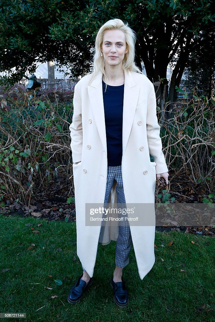 Actress Aymeline Valade attends the Christian Dior Spring Summer 2016 show as part of Paris Fashion Week. Held at Musee Rodin on January 25, 2016 in Paris, France.
