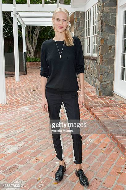 Actress Aymeline Valade attends The Consul General Of France Mr Axel Cruau ceremony to honor The Official France Entry For Best Foreign Language Film...