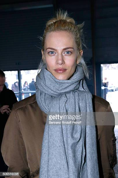 Actress Aymeline Valade attends the Lanvin Menswear Fall/Winter 20162017 show as part of Paris Fashion Week on January 24 2016 in Paris France