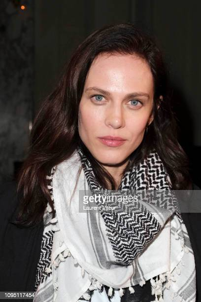 Actress Aymeline Valade attends the Raf Simons Menswear Fall/Winter 20192020 show as part of Paris Fashion Week on January 16 2019 in Paris France