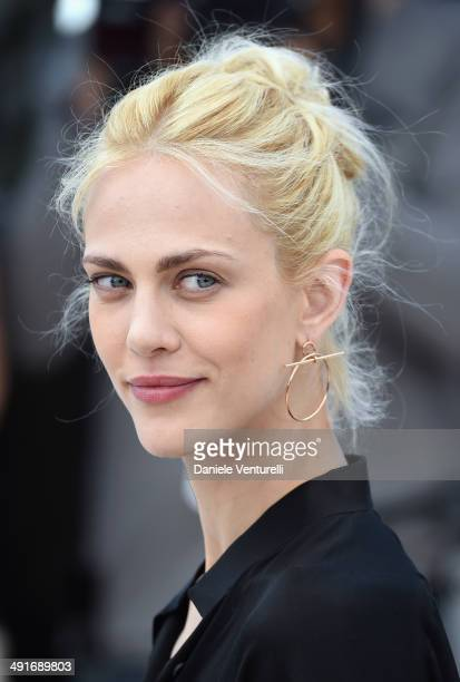 Actress Aymeline Valade attends the 'Saint Laurent' photocall at the 67th Annual Cannes Film Festival on May 17 2014 in Cannes France
