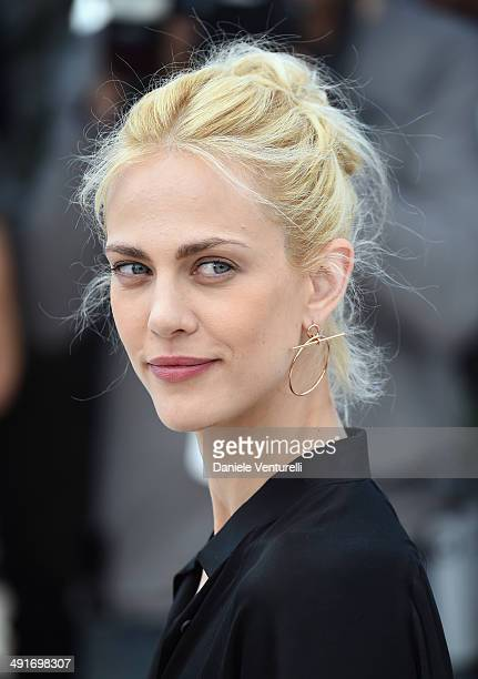 Actress Aymeline Valade attends the Saint Laurent photocall at the 67th Annual Cannes Film Festival on May 17 2014 in Cannes France