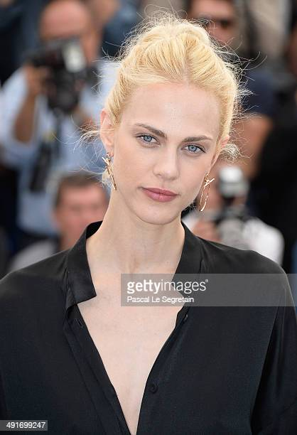Actress Aymeline Valade attends the Saint Laurent photocall during the 67th Annual Cannes Film Festival on May 17 2014 in Cannes France