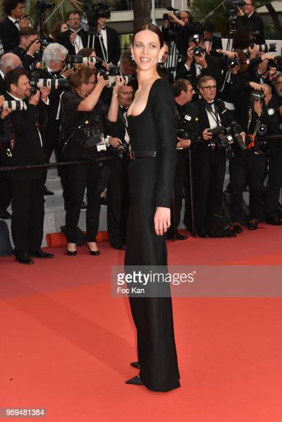 Actress Aymeline Valade attends the screening of 'Burning' during the 71st annual Cannes Film Festival at Palais des Festivals on May 16 2018 in...