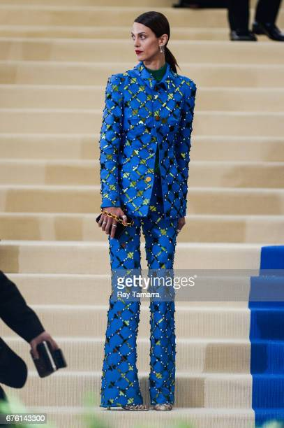 Actress Aymeline Valade enters the Rei Kawakubo/Comme des Garcons Art Of The InBetween' Costume Institute Gala at the Metropolitan Museum of Art on...