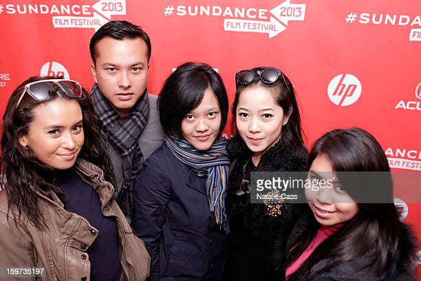Actress Ayushita actor Nicholas Saputra writer/director Mouly Surya and actresses Karina Salim and Lupita Jennifer attend the 'What They Talk About...