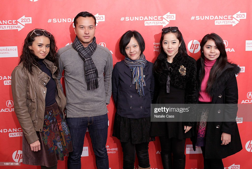Actress Ayushita, actor Nicholas Saputra, writer/director Mouly Surya and actresses Karina Salim and Lupita Jennifer attend the 'What They Talk About When They Talk About Love' premiere at Prospector Square during the 2013 Sundance Film Festival on January 19, 2013 in Park City, Utah.
