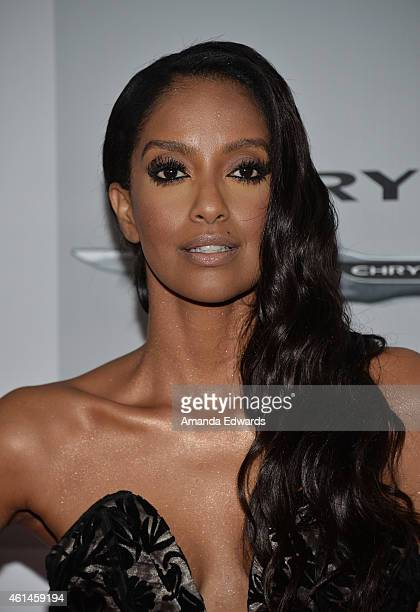 Actress Azie Tesfai arrives at NBCUniversal's 72nd Annual Golden Globes After Party at The Beverly Hilton Hotel on January 11 2015 in Beverly Hills...