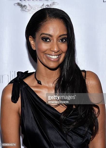 Actress Azie Tesfai arrives at the 3rd Annual Unlikely Heroes Awards Dinner and Gala at the Sofitel Hotel on November 8 2014 in Los Angeles California