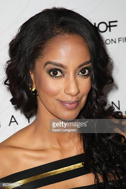 Actress Azie Tesfai arrives at the Entertainment Weekly celebration honoring nominees for The Screen Actors Guild Awards at the Chateau Marmont on...