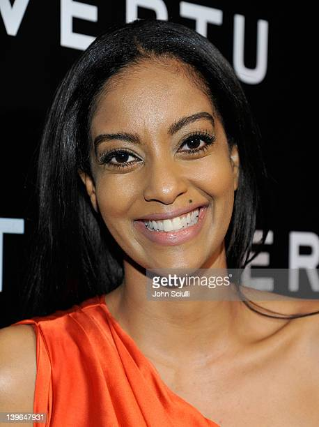 Actress Azie Tesfai arrives at Vertu and Gelila and Wolfgang Puck Celebrate the Oscars and Dream for Africa Foundation at CUT on February 23 2012 in...