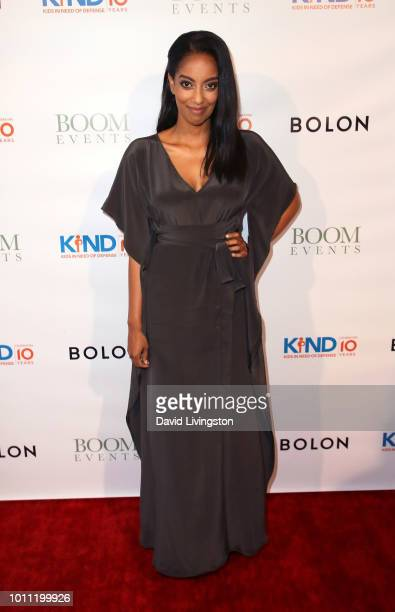 Actress Azie Tesfai attends Kind Los Angeles Coming Together for Children Alone at Helms Design Center on August 4 2018 in Culver City California