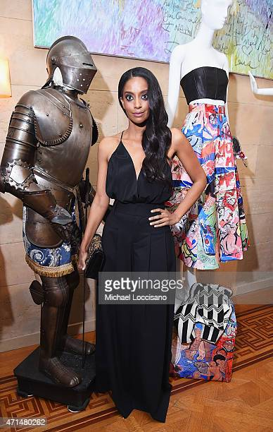 Actress Azie Tesfai attends the alice olivia by Stacey Bendet and the CFDA celebration of the alice olivia and Domingo Zapata collaboration on April...