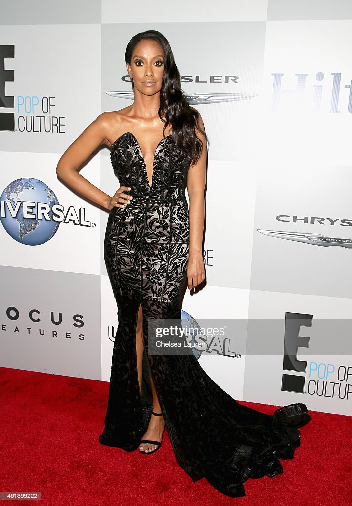 Actress Azie Tesfai attends the NBCUniversal 2015 Golden Globe Awards Party sponsored by Chrysler at The Beverly Hilton Hotel on January 11, 2015 in Beverly Hills, California.
