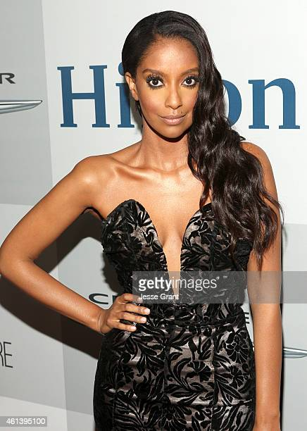 Actress Azie Tesfai attends Universal NBC Focus Features and E Entertainment 2015 Golden Globe Awards After Party sponsored by Chrysler and Hilton at...