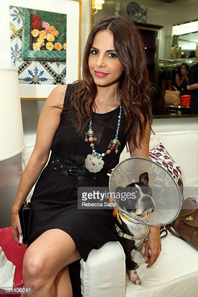 Actress Azita Ghanizada at Fashion's Night Out At Tory Burch at Tory Burch on September 6 2012 in Los Angeles California
