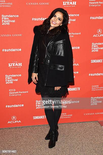 Actress Azita Ghanizada attends the Complete Unknown Premiere during the 2016 Sundance Film Festival at Eccles Center Theatre on January 25 2016 in...