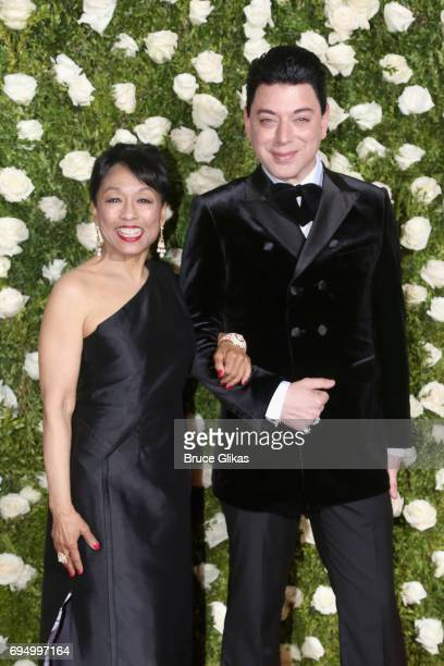 Actress Baayork Lee and designer Malan Breton attend the 71st Annual Tony Awards at Radio City Music Hall on June 11 2017 in New York City