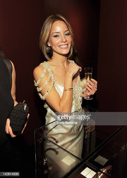 Actress Bade Iscil attends Cartier Aldo Cipullo New York City in the 70s Exhibition Preview Cocktail Reception at Cartier Mansion on April 12 2012 in...