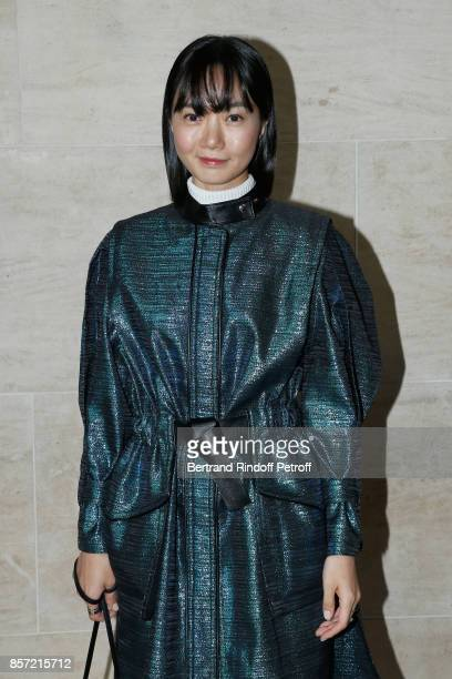 Actress Bae Doona attends the Louis Vuitton show as part of the Paris Fashion Week Womenswear Spring/Summer 2018 on October 3 2017 in Paris France
