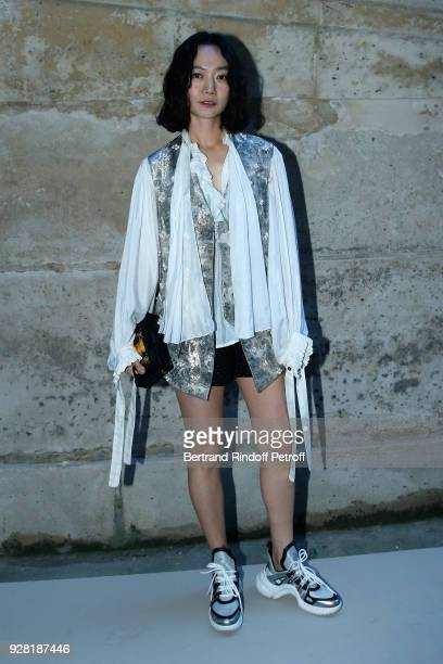 Actress Bae Doona attends the Louis Vuitton show as part of the Paris Fashion Week Womenswear Fall/Winter 2018/2019 on March 6 2018 in Paris France
