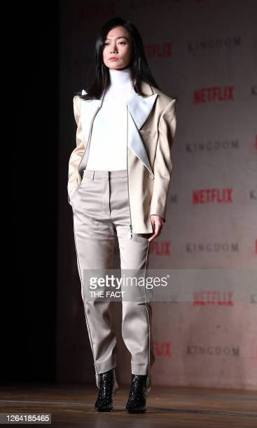 Actress Bae DooNa during a press conference of Netflix Originals 'Kingdom' at Intercontinental Seoul on January 21 2019 in Seoul South Korea