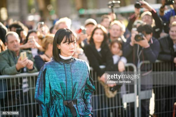 Actress Bae Doona outside Louis Vuitton during Paris Fashion Week Womenswear Spring/Summer 2018 on October 3 2017 in Paris France