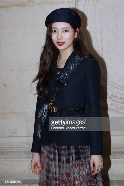 Actress Bae Suzy attends the Christian Dior show as part of the Paris Fashion Week Womenswear Fall/Winter 2019/2020 on February 26 2019 in Paris...