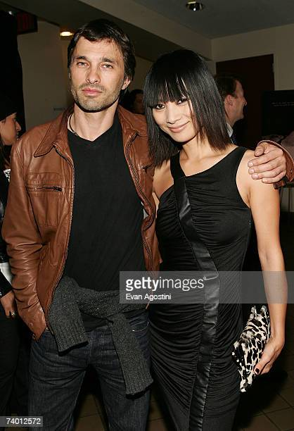 Actress Bai Ling and actor Olivier Martinez attend the Tribeca Film Institute Screening of the Angelina Jolie directed film 'A Place In Time' at the...