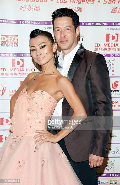 Actress Bai Ling and actor Russell Wong arrive at the Bluray DVD Release Of Twentieth Century Fox Home Entertainment's 'Snow Flower And The Secret...
