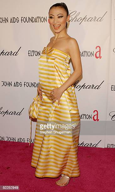 Actress Bai Ling arrives at the 13th Annual Elton John Aids Foundation Academy Awards Viewing Party at the Pacific Design Center on February 27, 2005...