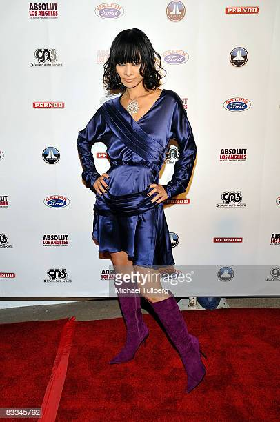 Actress Bai Ling arrives at the benefit grand opening of celebrity vehicle customization shop Galpin Auto Sports on October 18 2008 in Van Nuys...